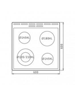 Готварска печка Körting с керамичен плот KEC6352IPC