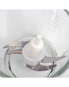 Чопър със стъклена купа ZEPHYR ZP 1111 IG, 300W, 1.5 литра, 2 скорости, 4 остриета, Бял