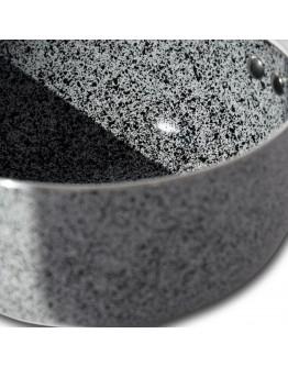 Касерола с керамично-мраморно покритие ZEPHYR Actual Line ZP 1321 NM20, 20 см, 2 литра, Сив/червен