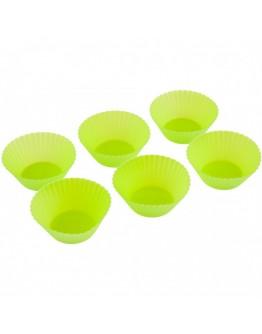 Комплект чашки за мъфини и кексчета Kinghoff KH 4635, 6 бр, 9х4 см, Силикон, Различни цветове