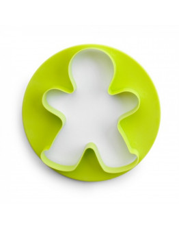 Пластмасова форма за меденки IBILI IB 789003, Джинджифилово човече, Зелен