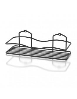 Поставка за баня на едно ниво TEKNO TEL TR BK 011B, Закрепване с дюбел, Черен