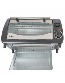 Тостер за сандвичи - фурна SAPIR SP 1441 NSB, 800W, 10 литра, Таймер, Черен/Сребрист