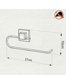 Поставка за кухненска хартия TEKNO TEL EF 240B, 27х10 см, Двойно залепване, Черен