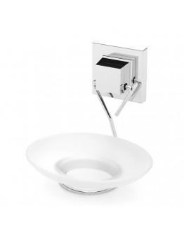 Поставка за сапун TEKNO TEL EF 266, 13х14х13 см, Двойно залепване, Хром