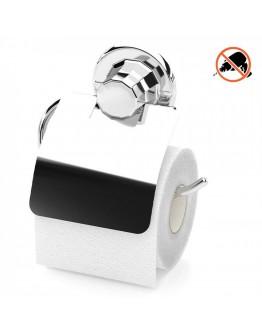 Поставка за тоалетна хартия с капак TEKNO TEL TR DM 238, 15х5х15 см, Вакуум, Хром