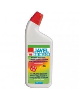 Препарат за почистване на тоалетна Sano Javel, Аромат лимон, 750 мл