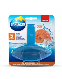 Ароматизатор за тоалетна Sano Bon Fresh Peach, 5в1, 55 гр