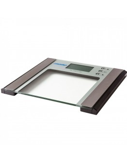 Дигитален кантар-анализатор Mesko MS 8146, батерия, LCD екран, 180 кг, Сребрист