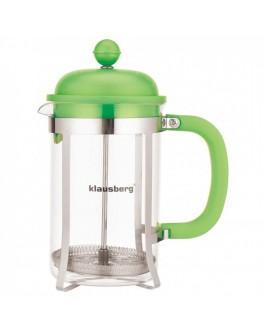 Френска преса за кафе и чай Klausberg KB 7078, 350 мл, Стъкло, Различни цветове