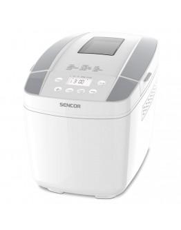Хлебопекарна Sencor SBR0770WH, 800W, 900-1200 гр, 12 програми, 2 бъркалки, LCD дисплей, Таймер, Бял