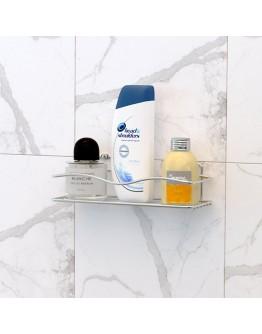 Поставка за баня на едно ниво TEKNO TEL TR BK 011, Закрепване с дюбел, Хром