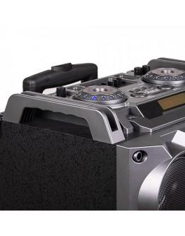 Преносима караоке тонколона ZEPHYR ZP 9999 2G12, 2х12 инча, Bluetooth, USB, Жак за китара, AUX, 2 микрофона, Дистанционно, Черен