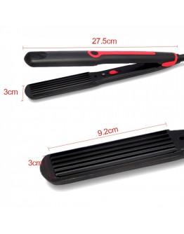 Преса за коса - обем SAPIR SP 1101 BA, 30W, Вафлички, 200°C, Черен/червен