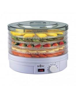 Сушилня за плодове и зеленчуци SAPIR SP 1451 A5, 250W, 35°C-70°C, 5 нива, Подходяща за гъби,месо и билки, Бял