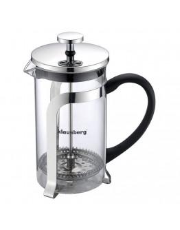 Френска преса за кафе и чай Klausberg KB 7151, 350 мл, Стъкло, Инокс