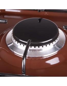 Газов котлон с две нагревателни зони BURGAS 102, 3400 W, Подвижен капак, Кафяв