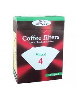 Хартиен филтър за кафе Nitec №4 К04, 100 броя