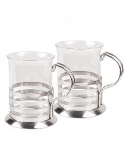 Комплект стъклени чаши SAPIR SP 1174 A200-2, 2 броя, 200 мл, Огнеупорно стъкло
