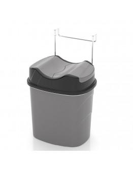 Кошче за боклук TEKNO TEL SF 007, 5.5 литра, Окачена система, Сив
