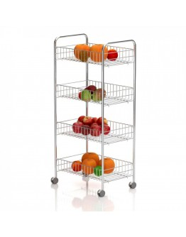 Кухненска количка органайзер TEKNO TEL MG 004, 39х86х26 см, 4 кошници, Колелца, Хром