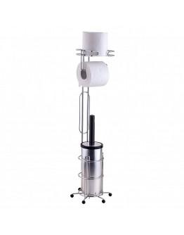 Мултифункционална поставка TEKNO TEL MG 096, 19x19x68 см, Хром