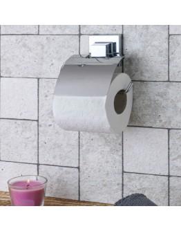 Поставка за тоалетна хартия с капак TEKNO TEL TR EF 238, 15х13 см, Двойно залепване, Хром