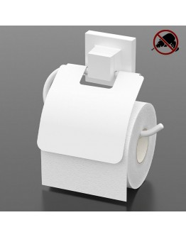 Поставка за тоалетна хартия с капак TEKNO TEL TR EF 238W, 15х13 см, Двойно залепване, Бял
