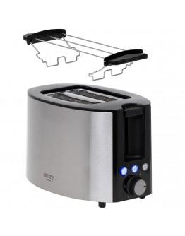 Тостер за хляб Camry CR 3215, 1000W, 2 филийки, 6 степени, Сребрист