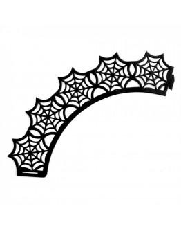 Декорация за мъфини за Хелоуин IBILI IB 736003, 10 броя, Хартия, Черен