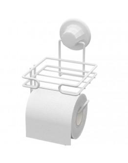 Двойна поставка за тоалетна хартия TEKNO TEL DM 275W, 12х15х18 см, Вакуум, Бял