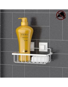 Етажерка за баня на 1 ниво TEKNO TEL EF 241W, 24х15х13 см, Двойно залепване, Бял
