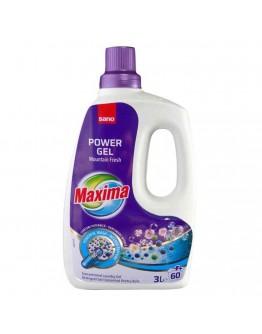 Гел за пране Sano Maxima Mountain Fresh, Концентрат, 3 л, 60 пранета
