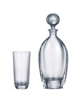 Комплект гарафа + чаши за вода Bohemia Orbit Set 1+6, 700 мл, 6 чаши х 300 мл, Кристалит