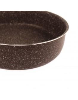 Комплект тави за печене RIV 2637-5, 28/30/32 см, Мраморно покритие, Кафяв