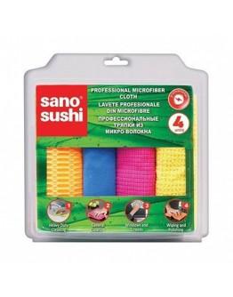Микрофибърна кърпа за почистване Sano Sushi, 4 бр.