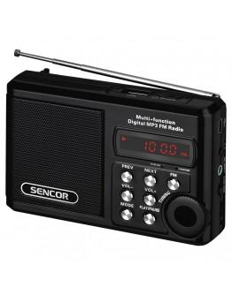 Портативен радиоприемник Sencor SRD 215 B, Micro SD слот, MP3 формат, Черен