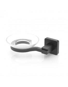 Поставка за сапун TEKNO TEL TR MG 366, 16х11х5 см, Закрепване с дюбел, Матово черно