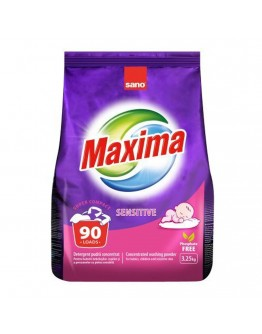 Прах за пране Sano Maxima Sensitive, Концентрат, 3.25 кг, 90 пранета
