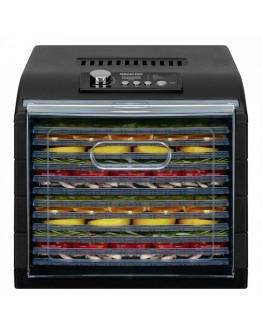 Сушилня за плодове и зеленчуци Sencor SFD 6600BK, 500W, 35°C-75°C, 12 нива, Подходяща за гъби,месо и билки, Черен