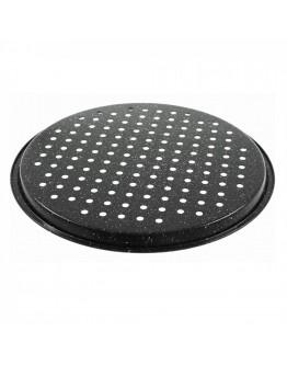 Тава за пица Klausberg KB 7442, 34 см, Мраморно покритие, Черен