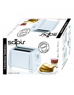 Тостер за хляб SAPIR SP 1440 B, 750W, За 2 филийки, 6 степени на запичане, Бял