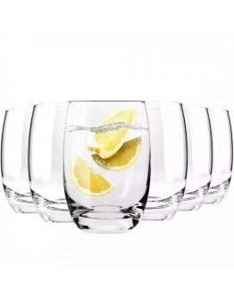 Комплект чаши за вода и безалкохолни напитки Krosno Epicure F689453036021000, 6 броя, 360 мл, Кристалин