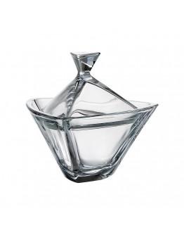 Купа с капак Bohemia Triangle Bowl Cov., 18 см, Кристалит