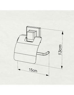 Поставка за тоалетна хартия с капак TEKNO TEL TR EF 238G, 15х13 см, Двойно залепване, Златист