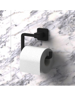 Поставка за тоалетна хартия TEKNO TEL TR MG 394, 15х6х9 см, Закрепване с дюбел, Матово черно