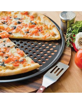 Тава за пица Klausberg KB 7196, 33 см, Незалепващо покритие, Черен