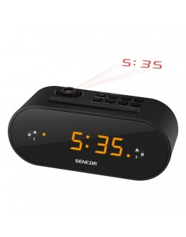 Цифров радиочасовник Sencor SRC 3100 B, Двойна аларма, Проектиране на часа, Черен