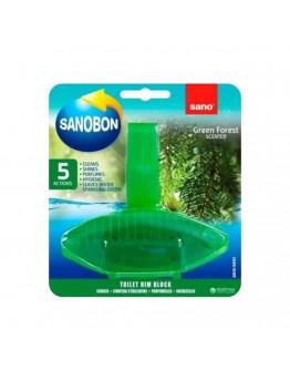 Ароматизатор за тоалетна Sano Bon Fresh Green Forest, 5в1, 55 гр