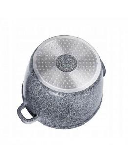 Дълбока тенджера с дозатор за мазнина Zilner ZL 7064, 24 см, 6.2 литра, Мраморно покритие, Сив